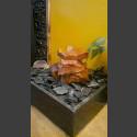 Fontaine d'intérieur set Cascade grès rouge 3 pièces en bassin de granit carré