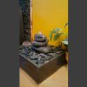 Fontaine d'intérieur set Cairn en Bloc erratique 3 pièces en bassin de granit carré