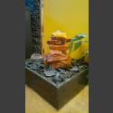 Fontaine d'intérieur set Cascade grès rouge 5 pièces en bassin de granit carré
