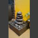 Fontaine d'intérieur set Cairn en Bloc erratique 5 pièces en bassin de granit carré