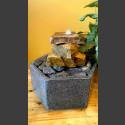 Fontaine d'intérieur set Cascade grès beige en bassin de granit hexagonal