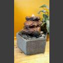 Fontaine d'intérieur set Cascade de Lave en bassin de granit hexagonal
