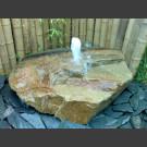 Fontaine de jet d'eau moussant halogène gres beige