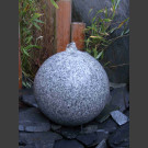 Boule de Fontaine granite gris poncè 30cm