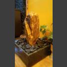 Fontaine d'intérieur set Grès beige en bassin de granit carré