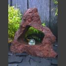 Fontaine en Lave percée avec rotative boule en verre 10cm