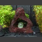 Fontaine en Lave percée avec rotative boule en verre 15cm