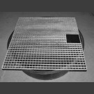PE-Réservoir rond avec grille pour couvrir 100cm carré
