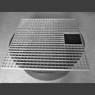 PE-Réservoir rond avec grille pour couvrir  80cm carré