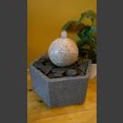 Fontaine d'intérieur set Boule en Granite rouge en bassin de granit hexagonal