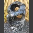 Sculpture en marbre noir-blanc 130cm de haut