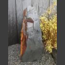 Pierre Solitäre Schiste noir-coloré 124cm de haut