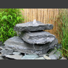 Cascade fontaine de jardin complet bleu-vert