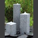 Fontaine Set Triolithes Granite gris quadrangulaire 50cm