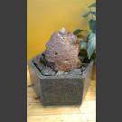 Fontaine d'intérieur set Lave 20cm en bassin de granit hexagonal