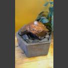Fontaine d'intérieur set Lave 10cm en bassin de granit hexagonal