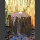 Pierre à fontaine de jardin ardoise gris-noire 30cm