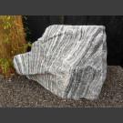 Pierre Solitäre Marbre gris-blanc 90cm de haut