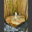 Fontaine de jet d'eau moussant gres beige