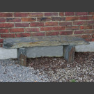 Banc de pierre de schiste gris-brun