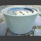 Panier gris clair avec 66cm Réservoir et couvercle en fibre de verre