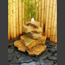 Cascade fontaine de jardin complet grès beige 5 pièces