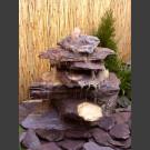 Cascade fontaine de jardin complet violet 7 pièces