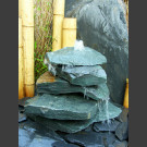 Cascade fontaine de jardin complet vert 5 pièces