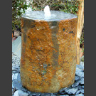 Pierre à fontaine de jardin Basalte avec creux 100cm