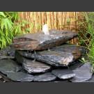 Cascade fontaine de jardin complet gris-noir 3 pièces