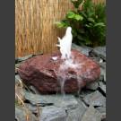 Fontaine de jet d'eau moussant halogène lave