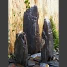 Triolithes á fontaine schiste gris-noir 150cm