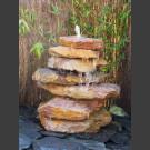 Cascade fontaine de jardin complet rouge 7 pièces