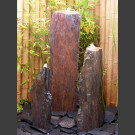 Fontaine Triolithes schiste gris-brun 95cm
