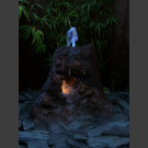 Fontaine de jardin complet volcan de lave 55cm