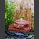 Cascade fontaine de jardin complet grès rouge 3 pièces
