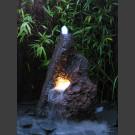 Fontaine de jardin complet volcan de lave 110cm