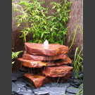 Cascade fontaine de jardin complet grès rouge 5 pièces