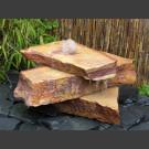 Cascade fontaine de jardin complet grès beige 3 pièces