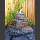 Cascade fontaine de jardin complet noir-rouge 7 pièces