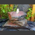 Cascade fontaine de jardin complet noir-rouge 3 pièces