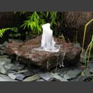 Fontaine jet d'eau moussant lave 65cm