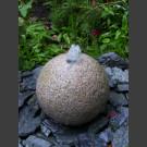 Boule de Fontaine complet en granite rouge 20cm