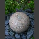 Boule de Fontaine en granite rouge40cm