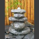 Pierre à fontaine de jardin Cairn en Bloc erratique 5 pièces