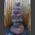 Fontaine de jardin complet Cairn en lave 7 pièces