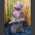 Pierre à fontaine de jardin Cairn en lave 5 pièces