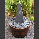 Complet Fontaine Colonne ardoise gris-noir 50cm