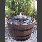 Complet Fontaine rocher dans le  tonneau de vin