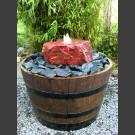 Rocher Fontaine complet grès dans le  tonneau de vin